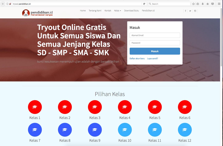 Try Out Online Gratis, Lengkap, Beragam dan berkualitas untuk Siapkan Diri Menjelang UH, UTS, UAS dan UNBK