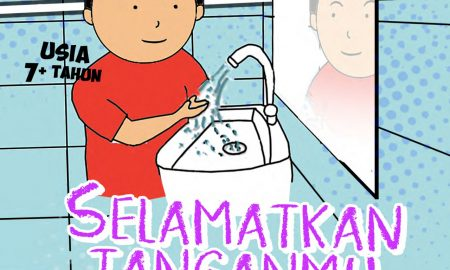 komik literasi selamatkan tanganmu dari kuman jahat