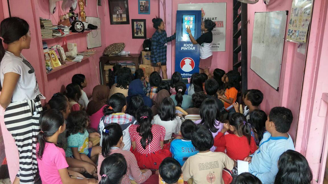 KIPIN Hadir untuk Anak Jalanan di Rumah Belajar Yayasan Hati Bagi Bangsa Semarang