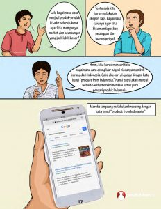 komik pendidikan umkm sukses ekspor