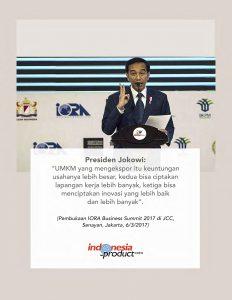 jokowi iora business summit 2017
