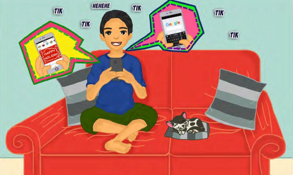 komik pendidikan kesehatan bahaya radiasi handphone