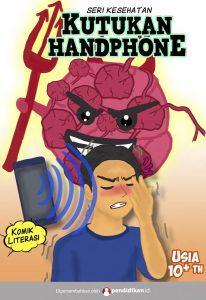 komik edukasi kesehatan bahaya handphone