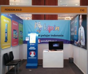 booth kipin atm di gess indonesia 2018 jakarta convention center