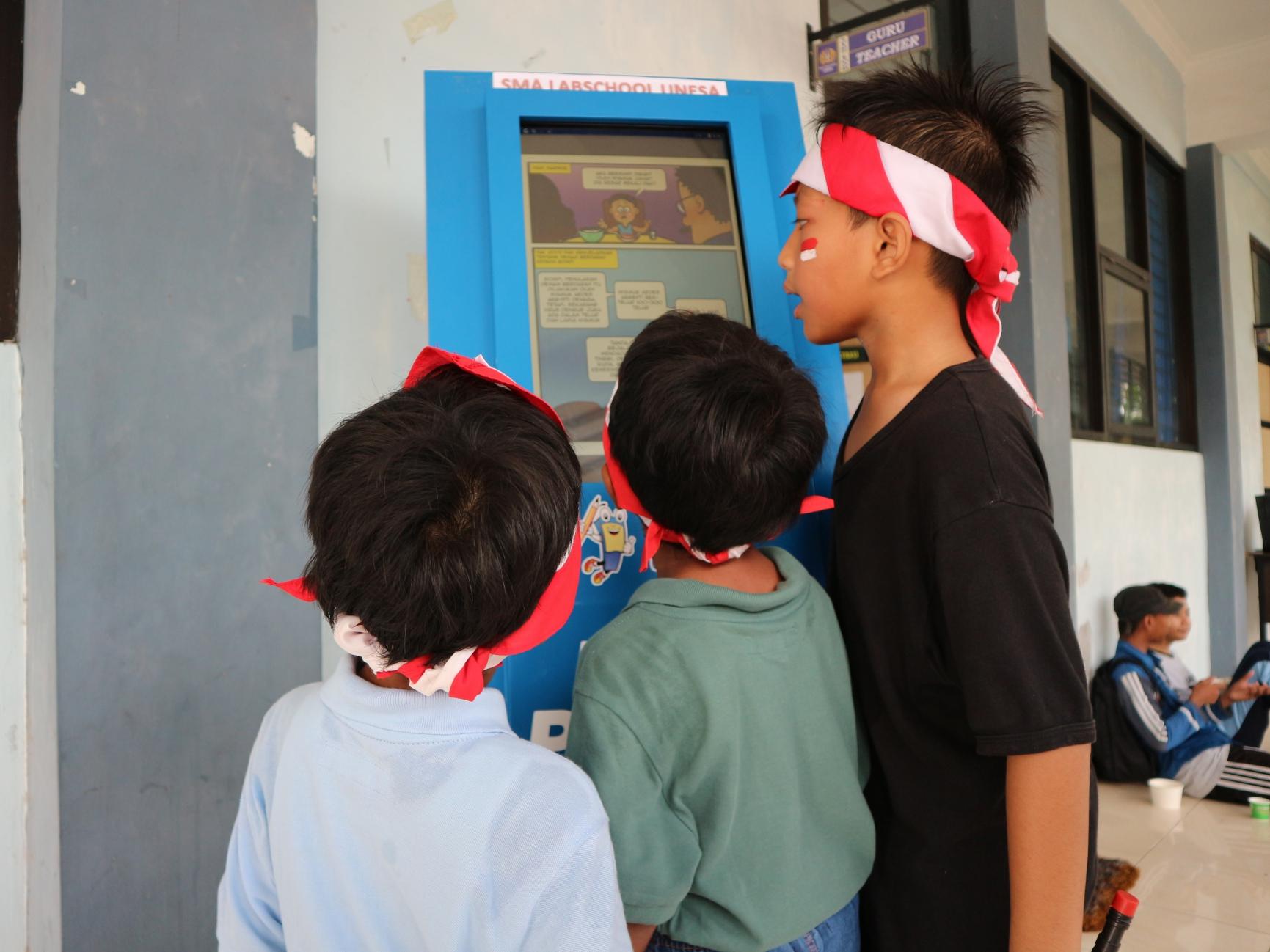 Teknologi Pembelajaran Digital KIPIN ATM Diluncurkan di Sekolah Labschool Surabaya