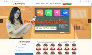 tryout online, latihan persiapan menghadapi unbk
