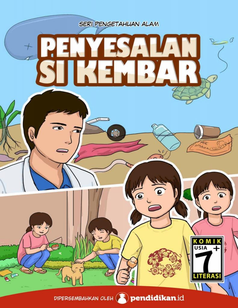 komik literasi komik pendidikan sosialisasi bahaya plastik
