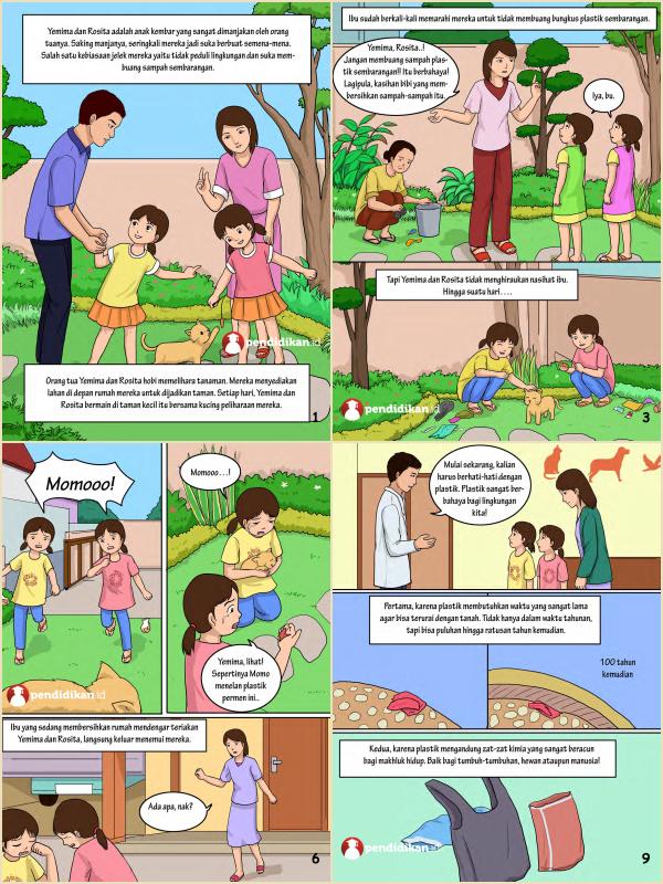komik sains bacaan mendidik bahaya plastik