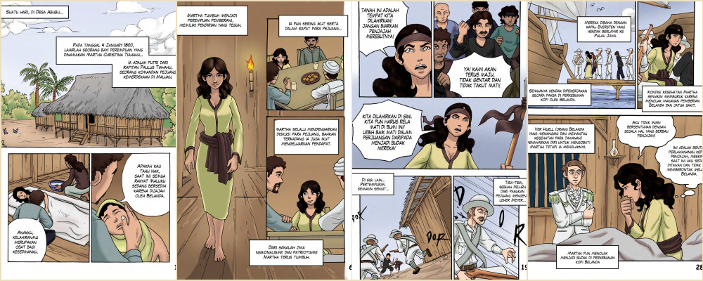 Komik Sejarah Kisah Martha Tiahahu, Pahlawan Belia dari Timur