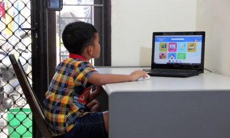 sekolah online, belajar dari rumah, belajar online, pjj, psbb
