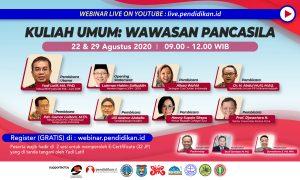 webinar seminar nasional pendidikan ideologi pancasila yudi latief, lukman hakim, ganjar pranowo