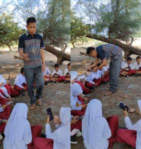 Penyegaran Kembali dengan Kegiatan Belajar dan Mengajar Secara Digital di Pesisir Pantai